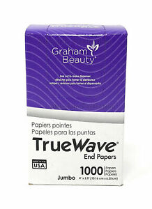 "True Wave Jumbo End Papers 1000ct. 4""X 2.5"" Graham Beauty"