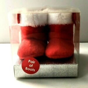 INFANT RED CHRISTMAS BOOTS BY NURSERY RHYME SIZE 0-6 MONTHS - New