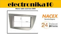 Soporte Marco de Montaje para Radio 2DIN Seat Leon 2005>2010 color Antracita