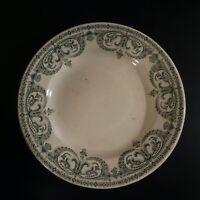 Assiette plate Guirlande Sarreguemines Digoin PC céramique faïence France N4626