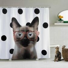 Cortina de Baño Impermeable De Gato Divertido Cortina de Ducha Shower Curtain