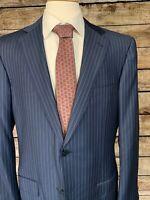 Ermenegildo Zegna Dark Blue Suit Jacket 44L Trofeo Wool Sport Coat