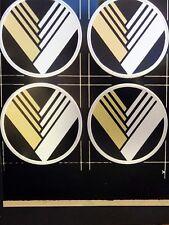Insigne, en plastique, Eunos Roadster, V-Design Style, 45 mm, noir, Set de 4 badges