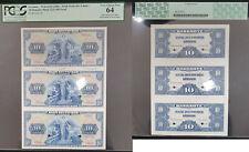 Deutschland Druckprobe 3 x 10 DM Bank Deutscher Länder Kassenfrisch