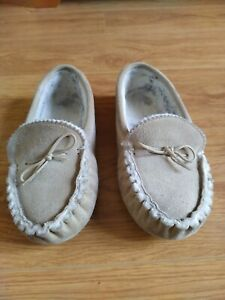 Mens real sheepskin slippers size 7