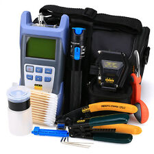 18 in1 Fiber Optic Toolkit with SKL-6C Fiber Cleaver Optical Power Meter 1mW-VFL