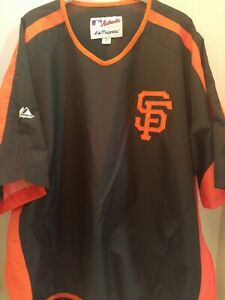 MAJESTIC SAN FRANCISCO GIANTS SEWN STITCHED Pullover Short Sleeve ADULT XL