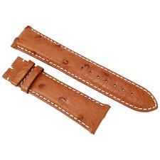 Hadley Roma 23 MM Cognac Ostrich Leather Strap