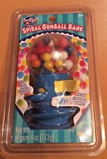 Sweet Spot Spiral Gumball Bank w/ Gumballs Plastic Case Globe Blue Sealed