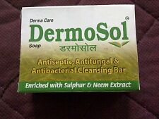 Dermosol Soap Enriched With Sulphur 1%  & Neem For Psoriasis,Dry Skin,Eczema