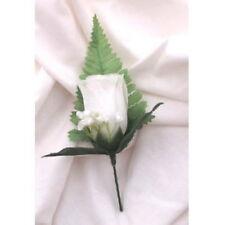 5 BELLE SETA ROSA BIANCA Pulsante Fori con foglie & gyp