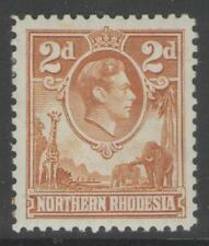 NORTHERN RHODESIA SG31 1938 2d YELLOW-BROWN MTD MINT