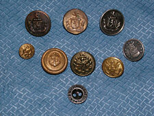 VINTAGE 9 MILITARY EAGLE & ANCHOR  BUTTONS