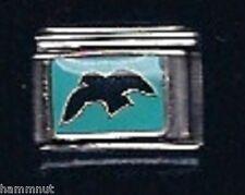 BLACK BIRD #11  WHOLESALE ITALIAN CHARM 9MM Stainless Steel