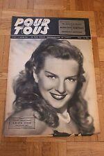 Film pour Tous N°39 - 7 Janvier 1947 - Andréa Verne Robinson Guétary