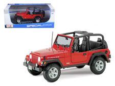 Jeep Wrangler Rubicon Red 1/18 Diecast Model Car by Maisto