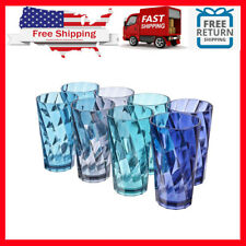 Everyday Drinking Glasses Durable Large Thick Tumblers Drinkware 20 Oz. Set Of 8