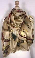Designer Inspired Silk Scarf Pashmina Gold Oversized Long Soft Silky NEW