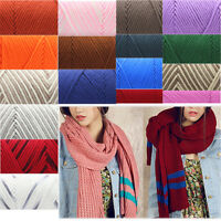 Knitting Wool 100g Skeins Soft 8Ply Cotton Velvet Crochet Weave Yarn DIY Scarf