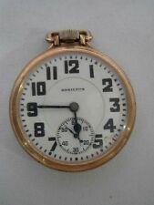 ANTIQUE HAMILTON 10K GOLD FILLED 992 21 JEWEL RAILROAD POCKET WATCH ~ WORKS