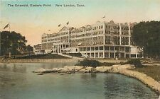 1920s Hand-Colored Postcard; The Griswold, Eastern Point, New London Ct, Posted
