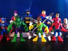SUPER HERO SQUAD FIGURES IMAGINEXT MARVEL  HULK SPIDERMAN BATMAN JOKER DC COMICS