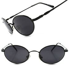 Old Fashion 80s 90s Mens Womens Black Indie Vintage Style Round Oval Sunglasses