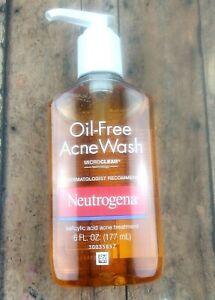 Neutrogena Oil Free Acne Wash Micro clear. 6 FL OZ