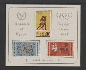 Zypern - 1964, Olympische Spiele, Tokyo Blatt - MNH - Sg MS248a