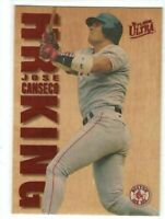 1996 FLEER ULTRA #4 WOOD GRAIN HOME RUN HR KING JOSE CANSECO RED SOX REDEEMED