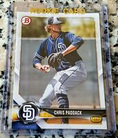 CHRIS PADDACK 2018 Bowman Rookie Card RC Padres $$ HOT $$ 1.55 ERA 0.69 WHIP