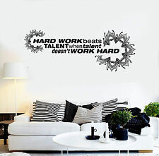 Vinyl Wall Decal Office Quote Hard Work Motivation Decoration Stickers (ig4292)