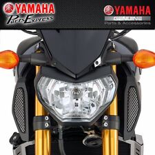 NEW YAMAHA STAINLESS STEEL SILVER MESH AIR SCOOP COVERS FZ-09 FZ09 2014 - 2016