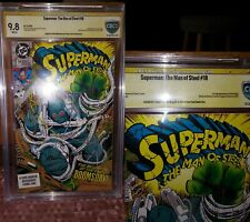 Superman Man of Steel #18 1st full Doomsday 9.8 CBCS not CGC SS signature signed