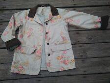 Vtg LL BEAN 90s Floral Cotton Canvas Barn Field Corduroy Jacket Sz XS Petite