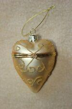 Glasherz Gold zum Öffnen, Weihnachtsbaumanhänger Herz 6,5 x 9 cm, Herz a.Glas