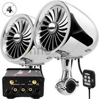 600W Amplifier Bluetooth Motorcycle Waterproof Speaker Stereo Audio Radio System