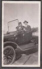 VINTAGE 1900'S HOUSTON CLUTE TEXAS OLD CAR AUTO WOMAN MAN FASHION HATS PHOTO