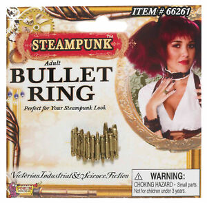 ADULT STEAMPUNK VICTORIAN ERA BULLET RING COSTUME ACCESSORY FM66261