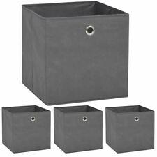 Vidaxl 4x Boîtes de Rangement Tissu Non-tissé 32x32x32 cm Gris coffre Chambre