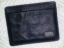 AX Armani Exchange Mens ID CARD CASE Wallet BLACK Leather