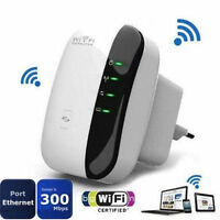 EU Plug Wifi 300Mbps Signal Extender Booster Wireless-N AP Range 802.11 Repeater