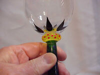 Kosta Boda Wine Glass Palm Tree by Ken Done  24206 Hand Painted signed