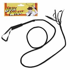 "72"" Black Bull Whip Halloween Ringmaster Circus Lion Tamer Cat Hero Woman Fancy"