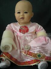 "Marie Osmond Doll ""Baby Ping"" Artist Ping Lau 12"" Seated Lt Ed"