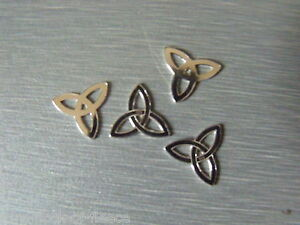 STERLING SILVER TREFOIL CONNECTOR 12 mm x 12 mm  FOR JEWELLERY MAKING S4-11