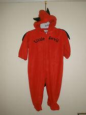 Little Devil Red Halloween Costume zipper wings tail horns 12M 12 months EUC D56