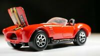 HOT WHEELS 1992 CLASSIC COBRA METAL BASE 7SP  MOVING PARTS HOOD RED CONVERTIBLE