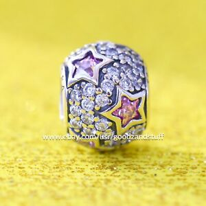 Follow The Stars Pink Authentic Pandora Sterling Silver with CZ Charm 791382PCZ