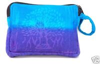 Buddha Coin Purse Tree of Life Bag Pouch Credit Card ID Holder Wallet Purple New